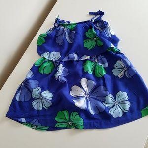 Floral / Hawaiian print Summer dress toddler girls